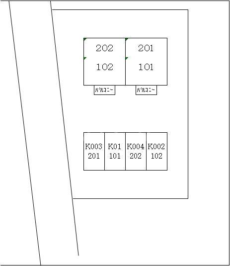 グランパス21 01010号室の駐車場