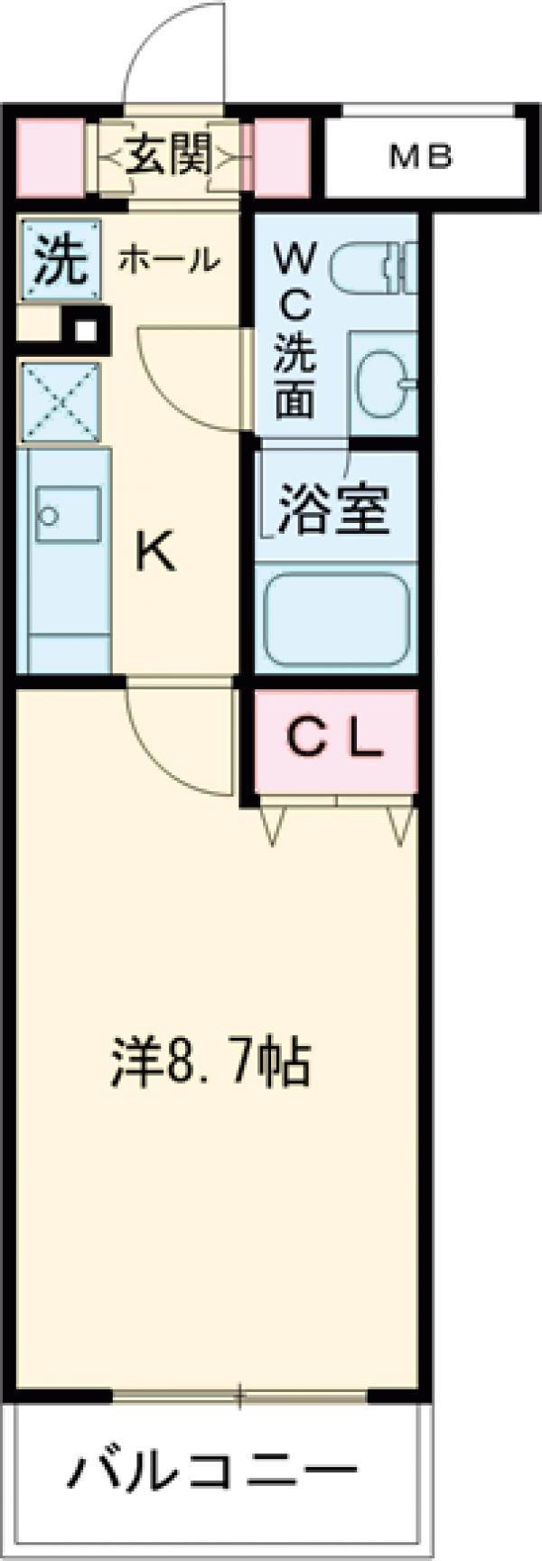 AZEST西高島平・105号室の間取り