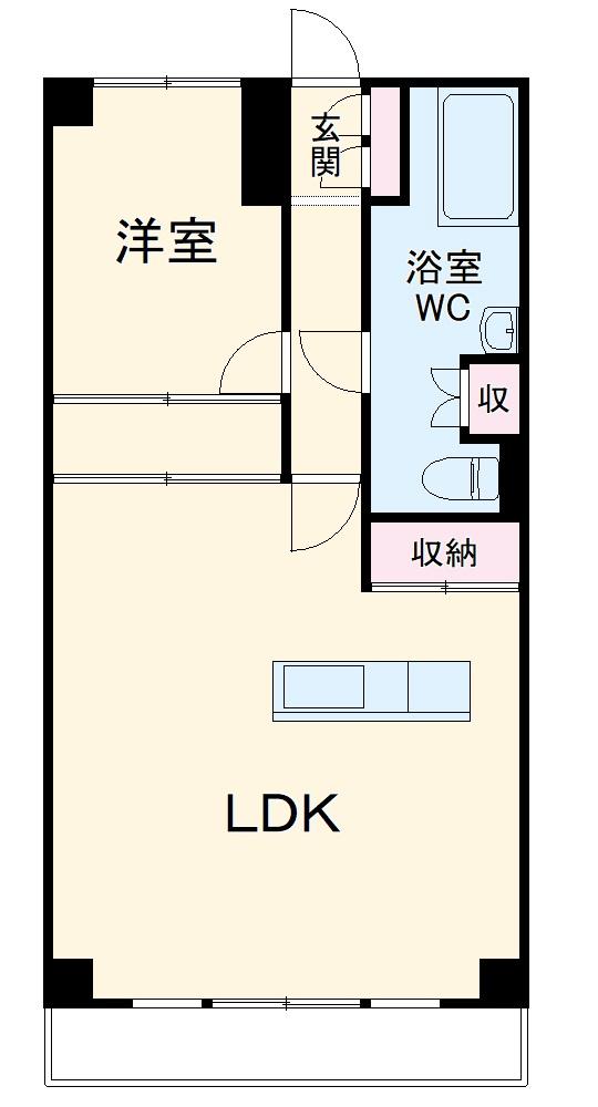 ライオンズマンション鎌倉七里ガ浜海岸・403号室の間取り