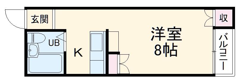 ストークハイツ北桜塚・103号室の間取り