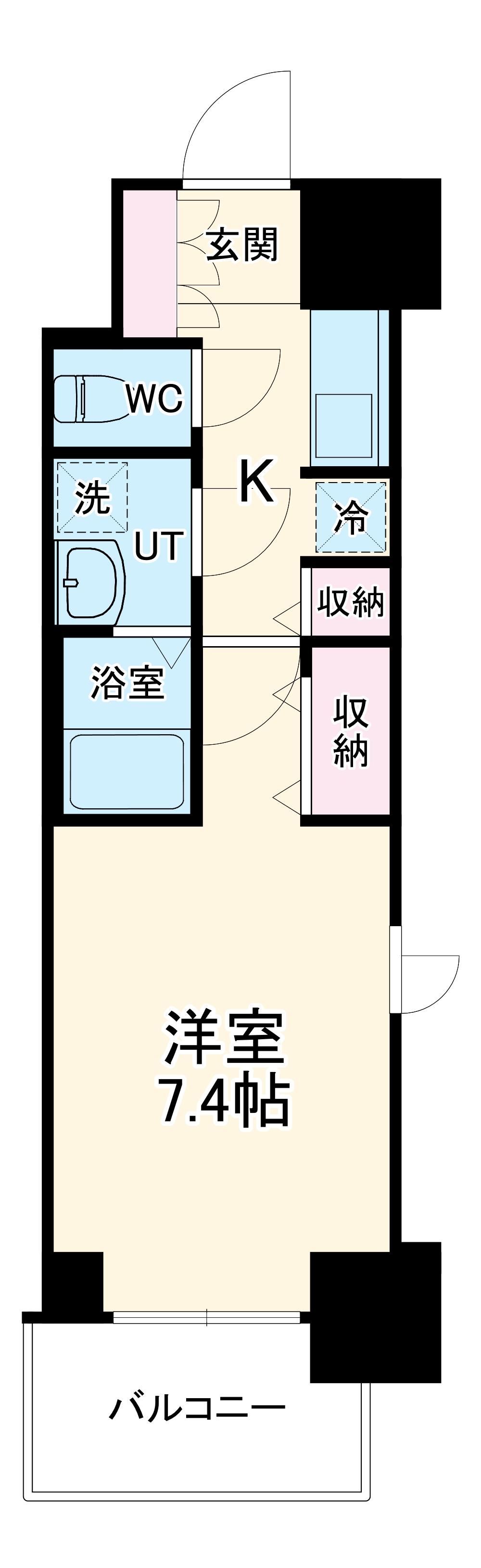 S-RESIDENCE葵II 1207号室の間取り