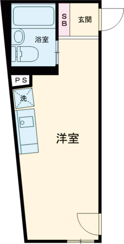 グラシアテラス 高田馬場 A-1号室の間取り