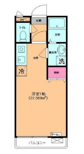 サンセール戸塚Ⅴ・203号室の間取り