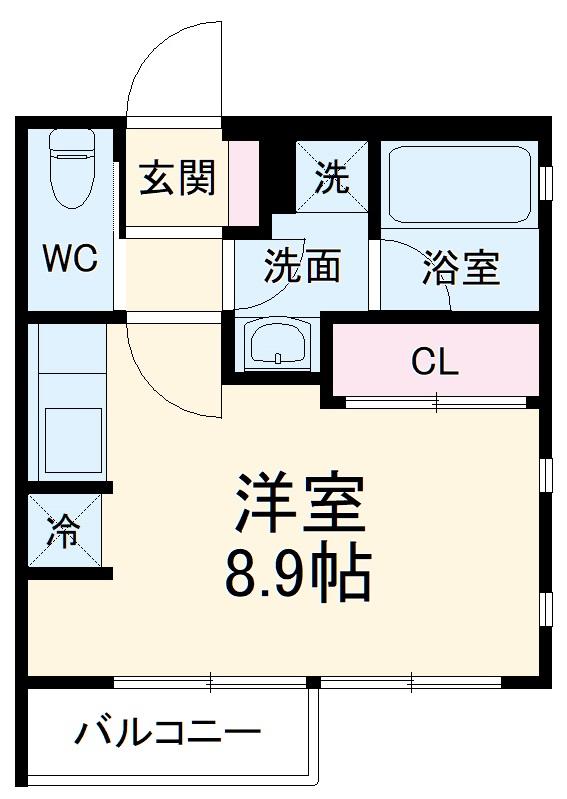 ミリアーデ覚王山 101号室の間取り