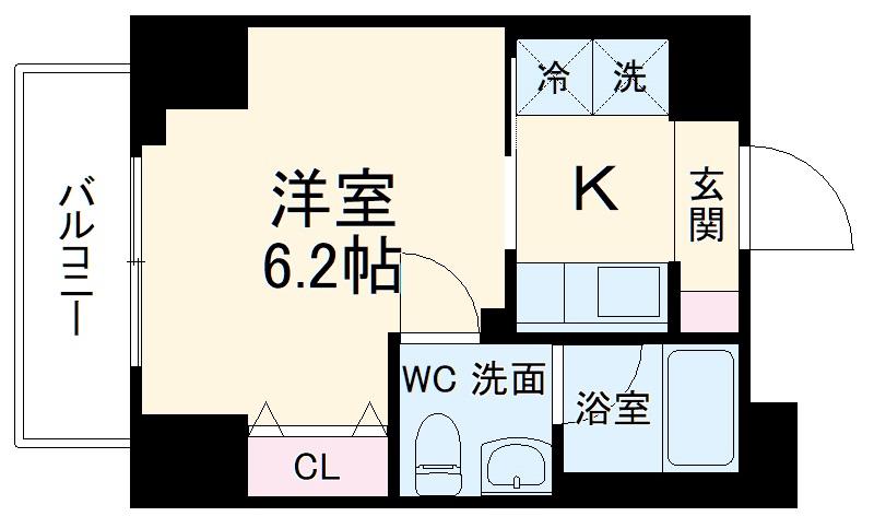 SS.Advance横濱末吉町 303号室の間取り