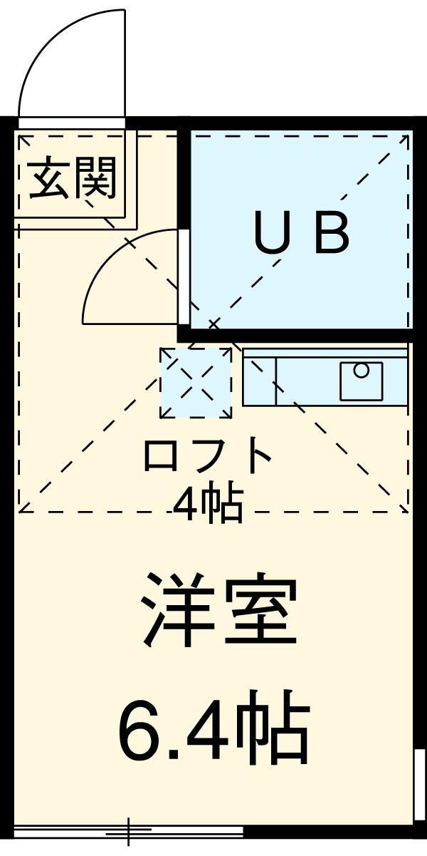 ユナイト矢口渡弐番館 203号室の間取り