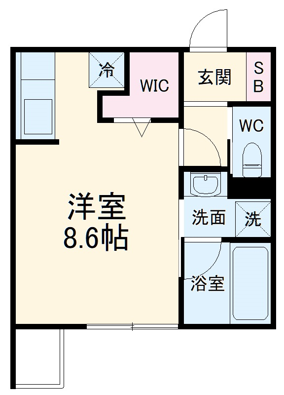 ミリアーデ覚王山 105号室の間取り