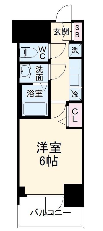 プレサンス名古屋幅下ファビュラス 402号室の間取り