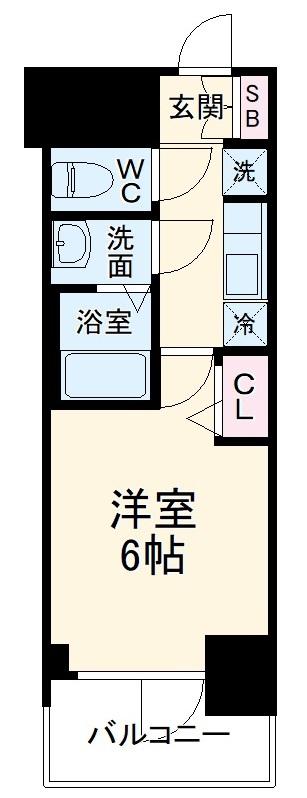 プレサンス名古屋幅下ファビュラス 502号室の間取り