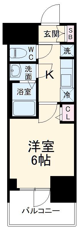 プレサンス名古屋幅下ファビュラス 1302号室の間取り