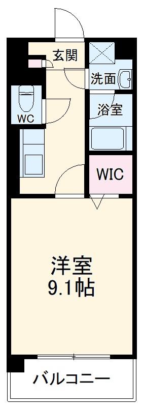 仮)長岡京市馬場川原マンション 206号室の間取り