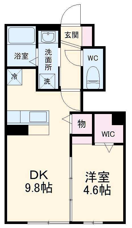 仮)D-room蟹江町今西 102号室の間取り