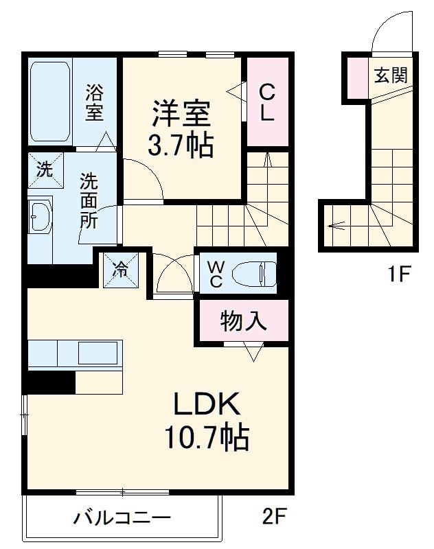 仮)D-room蟹江町今西・201号室の間取り