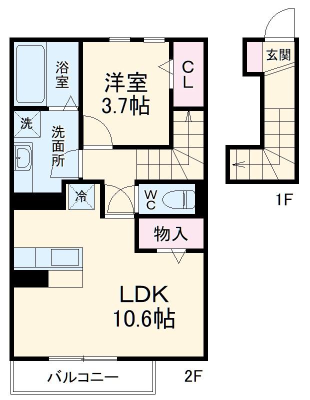 仮)D-room蟹江町今西・202号室の間取り