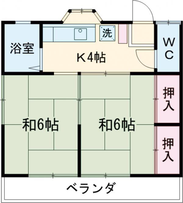 コーポ中田A・202号室の間取り