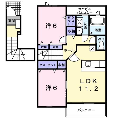 ルミナリエ・02030号室の間取り
