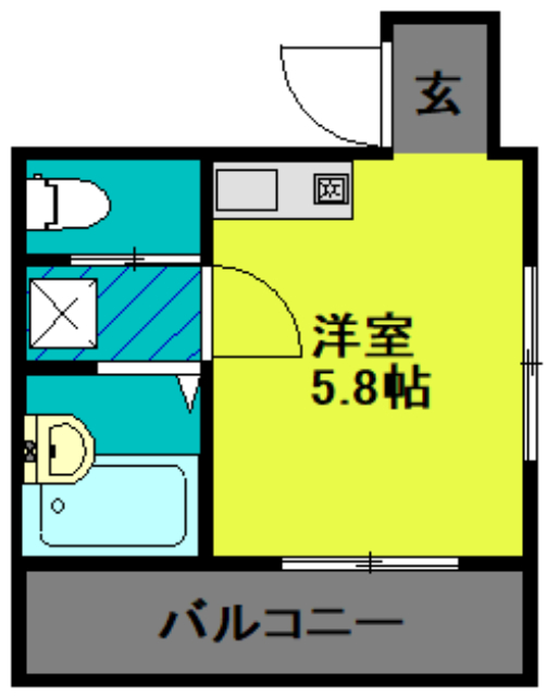 ランド・18 綾瀬2丁目 501号室の間取り