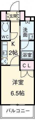 グラン・アベニュー名駅・202号室の間取り