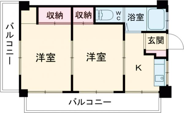 上野ビル・301号室の間取り