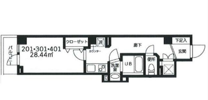 (仮称)早川ビル 201号室の間取り