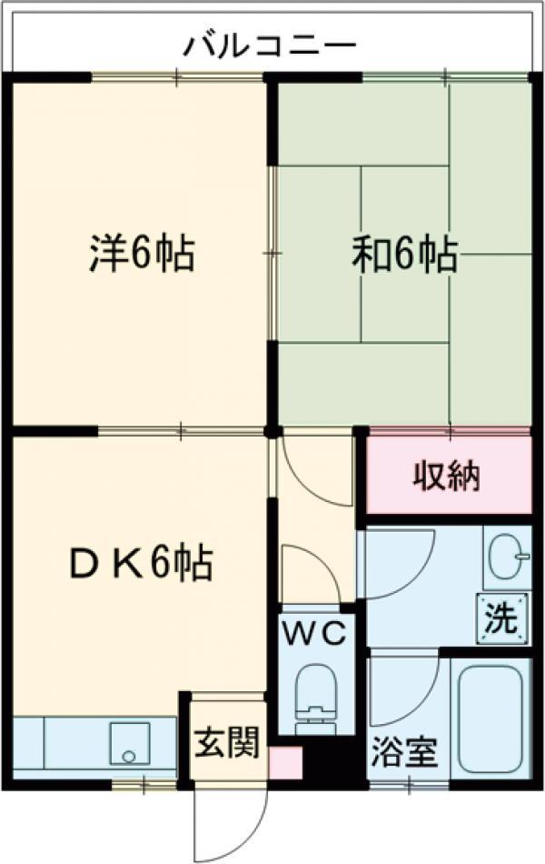 コーポ富沢 第1・101号室の間取り