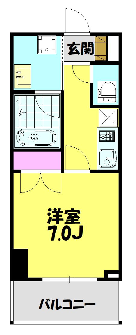 (仮称)新河岸駅前複合ビル計画 310号室の間取り