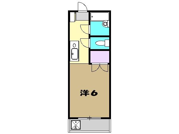 コーポラス小金井・301号室の間取り