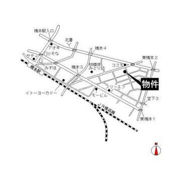 エステートピア原2 205号室の地図