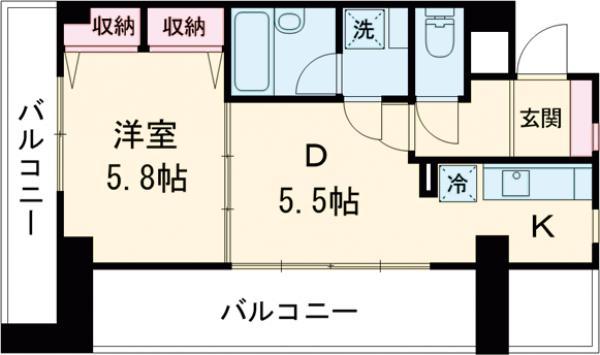 グランデ岡本・305号室の間取り