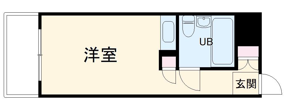 ロワイヤル・ユウ鹿嶋・712号室の間取り