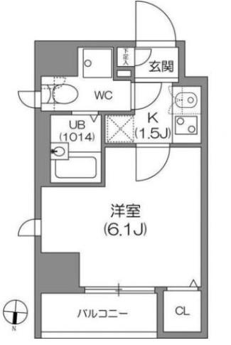 アジールコート中野坂上 701号室の間取り