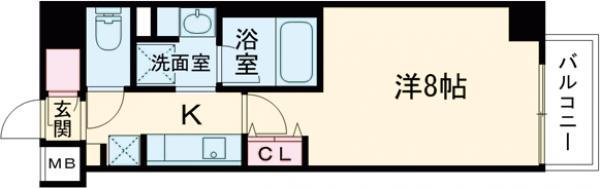 ルネサンスコート錦糸町 202号室の間取り
