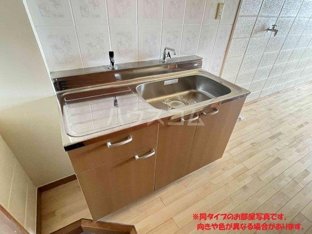 名桜マンションA棟 201号室のキッチン