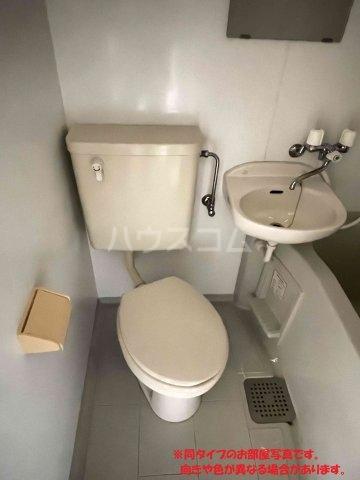 名桜マンションA棟 201号室のトイレ