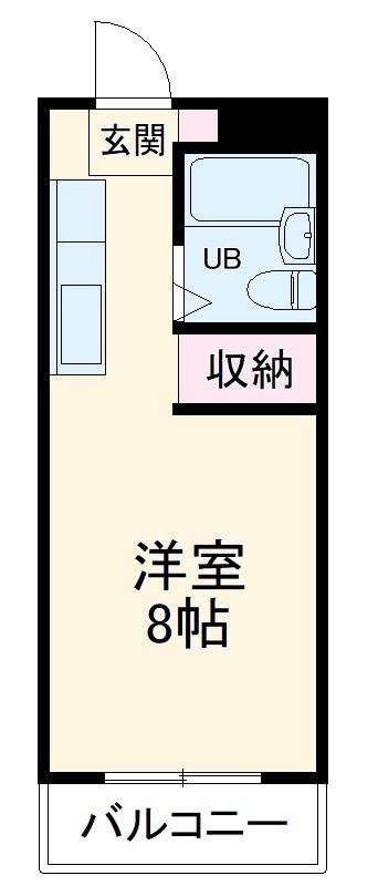 名桜マンションB棟 211号室の間取り
