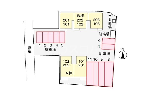 スプリングキャッスル B 02020号室の駐車場