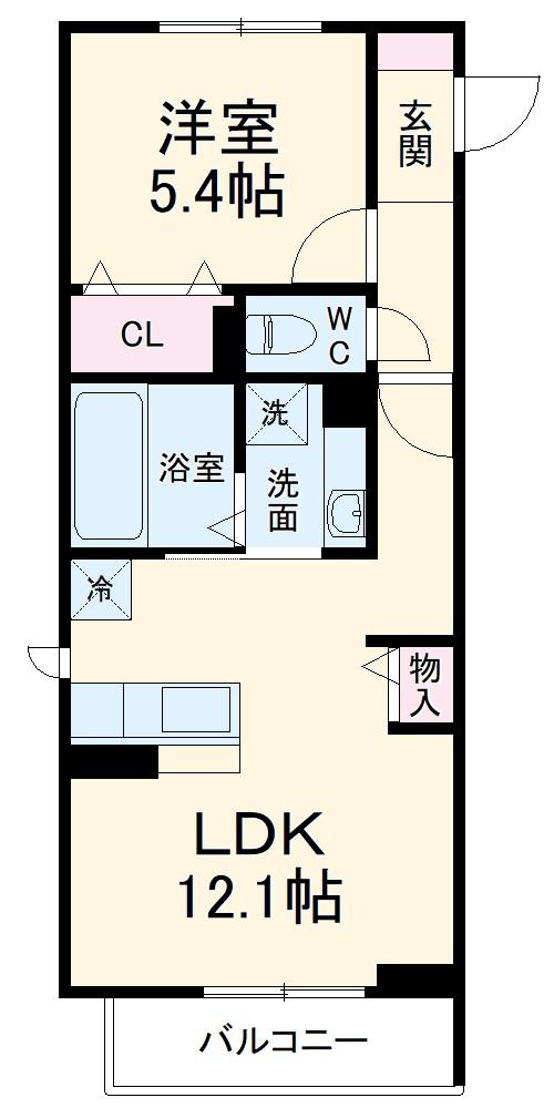(仮称)D-Room有玉南町 C棟 305号室の間取り