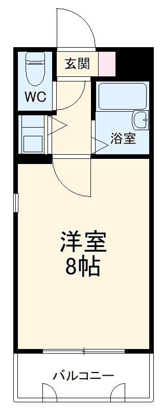 ロマネスク井尻第2 201号室の間取り