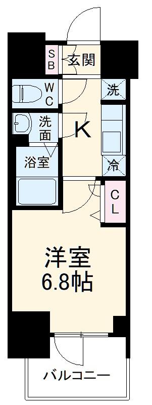 プレサンス名古屋幅下ファビュラス 703号室の間取り