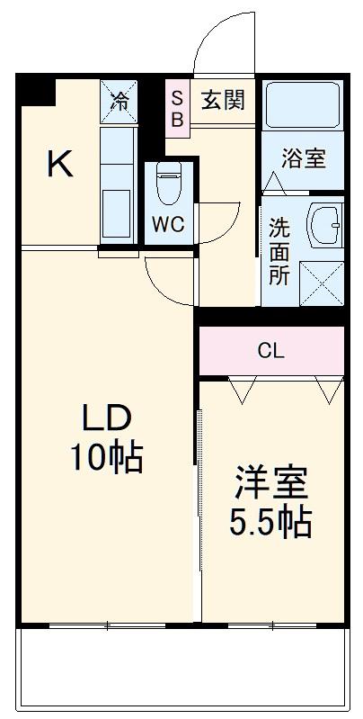 AXIS永田町 105号室の間取り