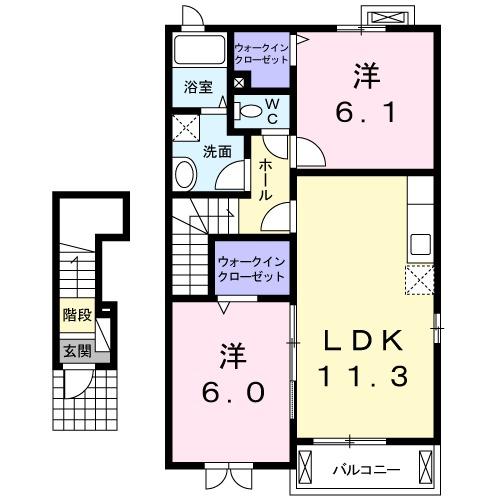 ハーモニー6・02030号室の間取り