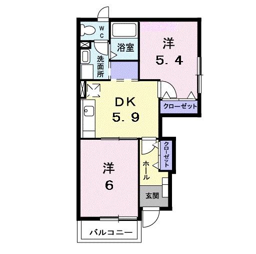 ゲストハウスB・01010号室の間取り
