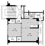 ビレッジハウス石宮2号棟・0304号室の間取り