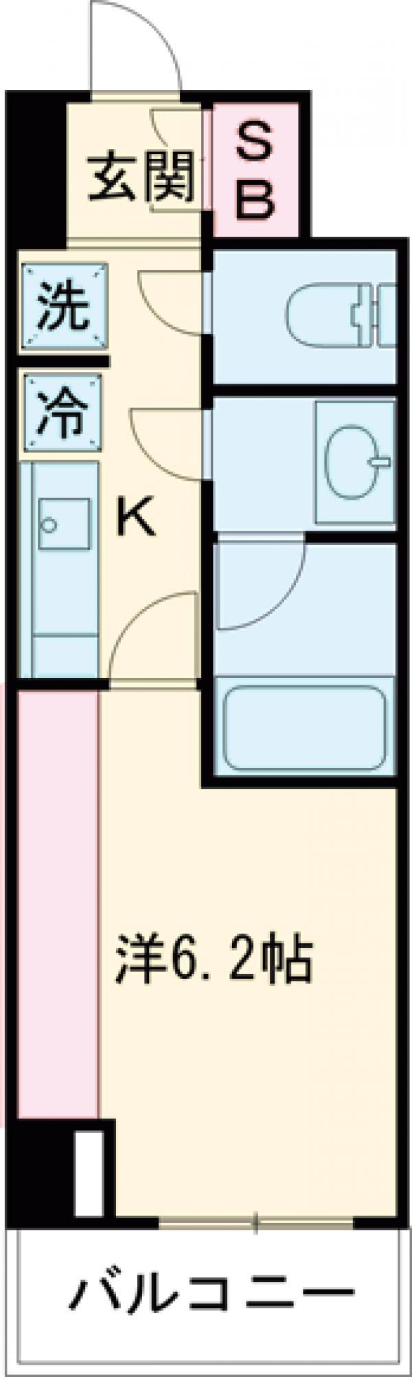 レジデンス雪谷大塚・411号室の間取り