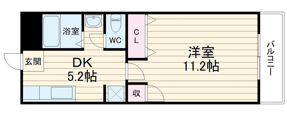 富士メイトマンション 505号室の間取り