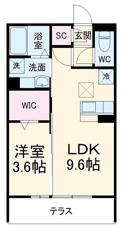 (仮称)D-Room有玉南町 B棟 102号室の間取り