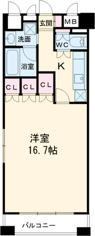 グラン・アベニュー名駅・1006号室の間取り