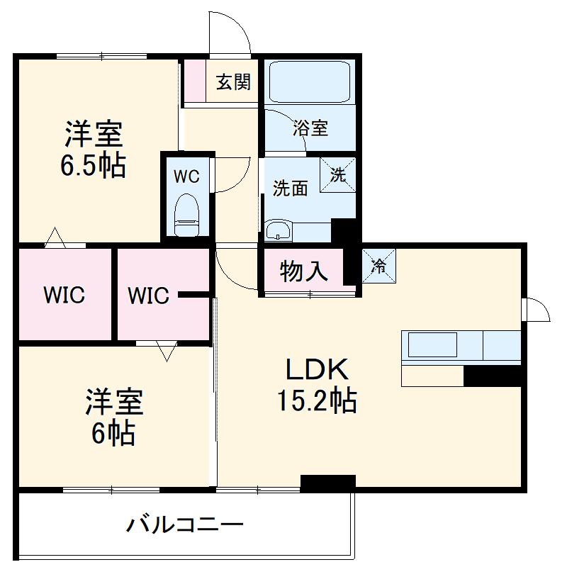 仮)D-room菅池 201号室の間取り