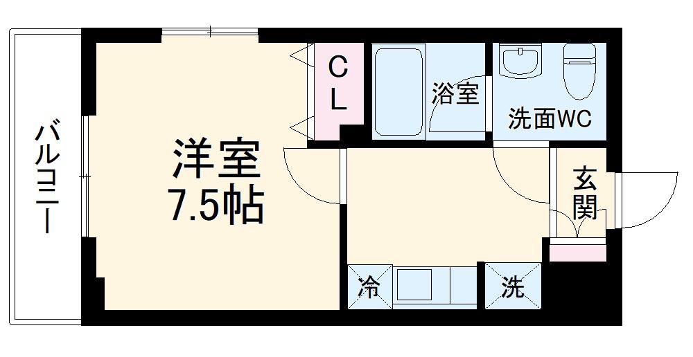(仮称)生田駅前PJ 201号室の間取り