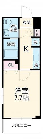 (仮称)生田駅前PJ 207号室の間取り